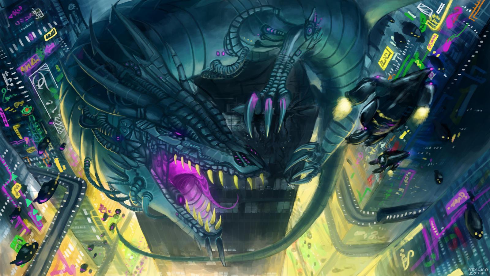 Cyber dragon attack by neylica on deviantart for Buy digital art online
