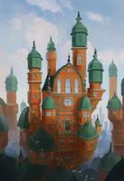 The orange castle by neylica