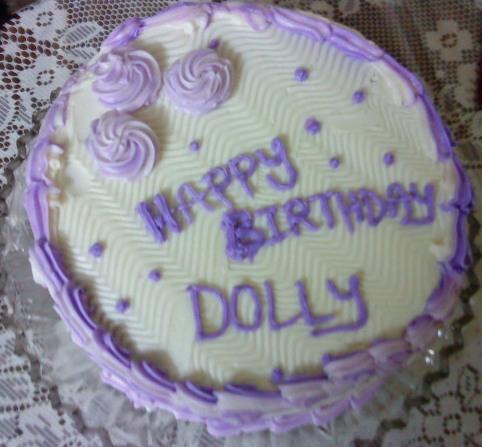 Happy Birthday Dolly Di Cake