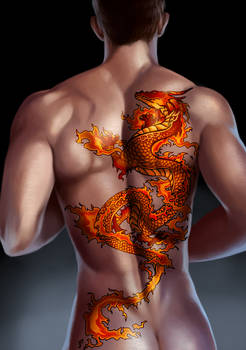 Commission - Fire Dragon Tattoo Studio