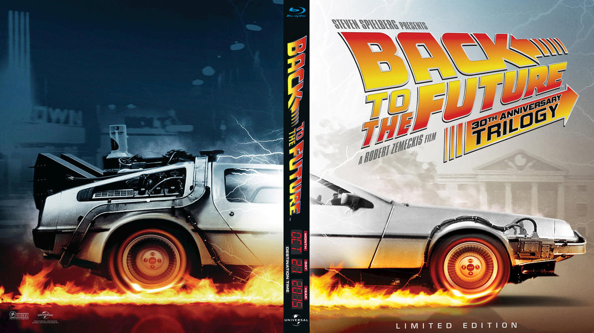 Back to The Future Trilogy Bluray Cover by Wolverine1977