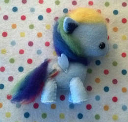 MLP Rainbow Dash felt plushie by ClassicalKate
