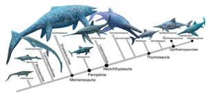 Ichthyopterygia phylogeny