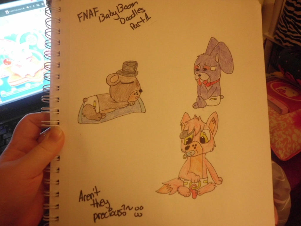 FNAF Baby Boom Doodles by CaitlinTheLucario