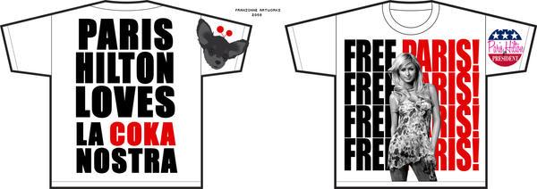 T-shirt Paris Hilton by Apio