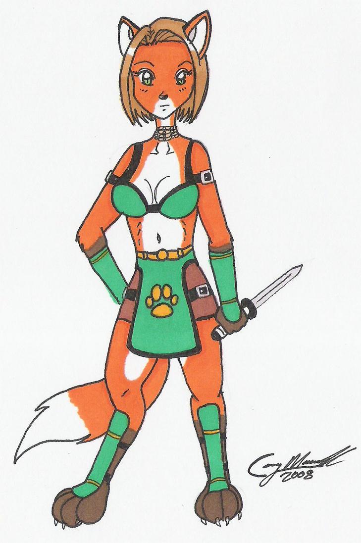 Female fox warrior