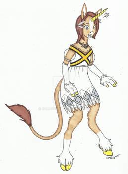 Princess Elise anthro unicorn TF