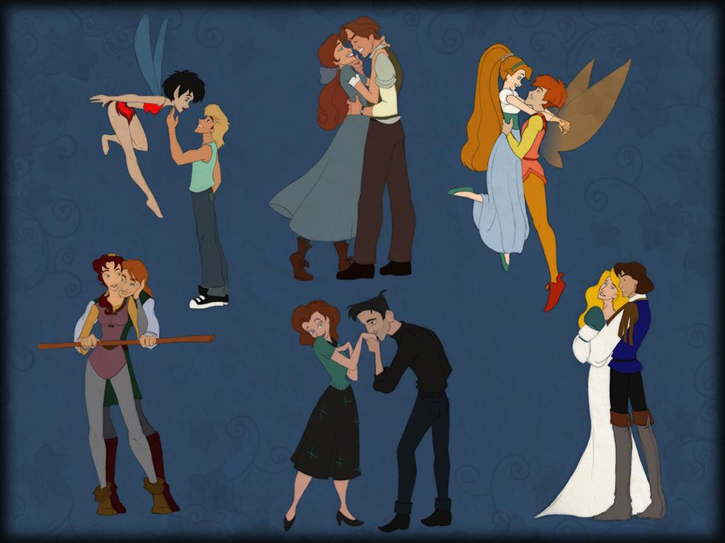 Non-Disney couples by scaragh
