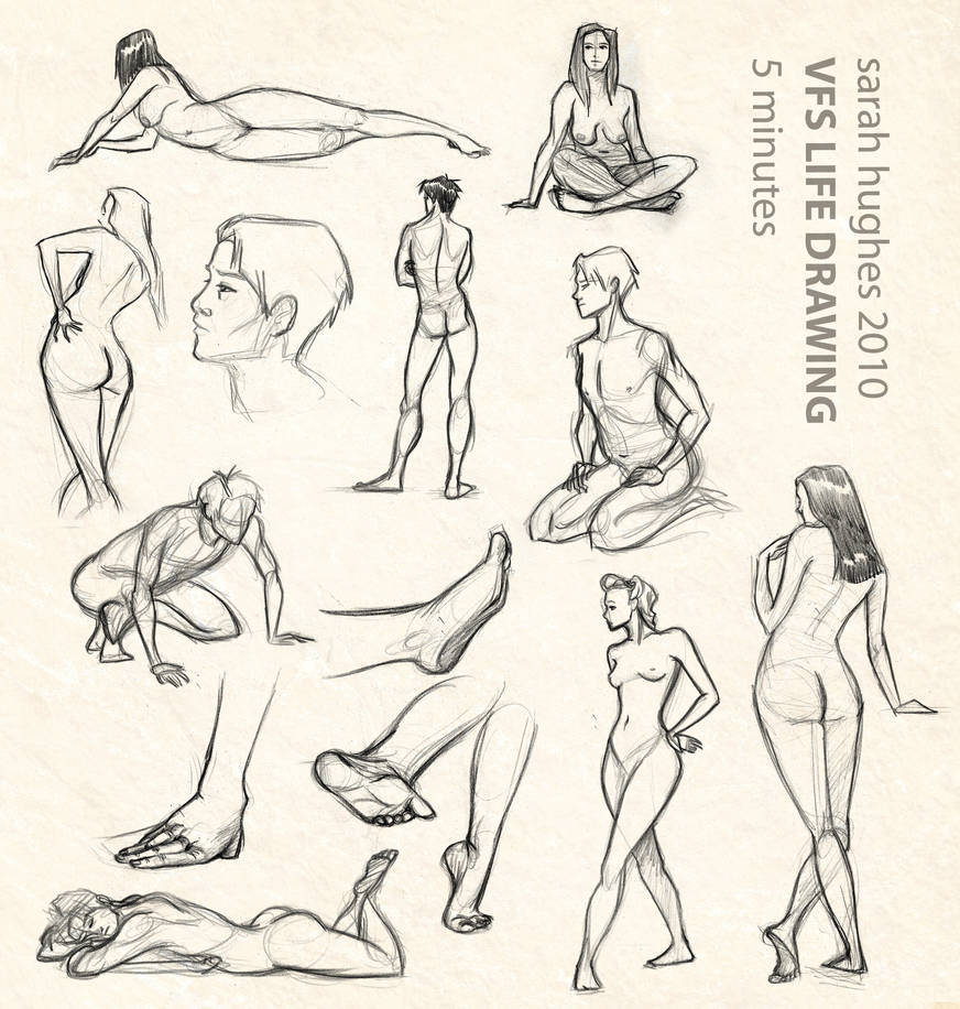 life drawing: 5 minutes by scaragh
