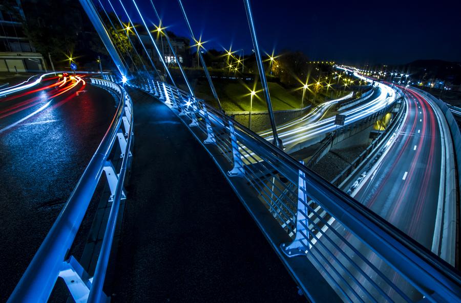 Speeding Lights - Liege by ThomasHabets