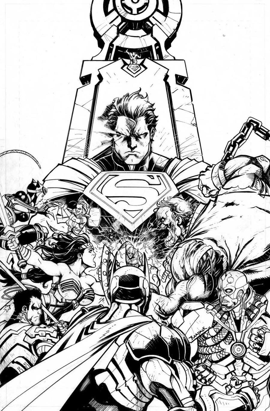 batman vs superman injustice coloring pages | Injustice Gods Among Us #1 by Raapack on DeviantArt