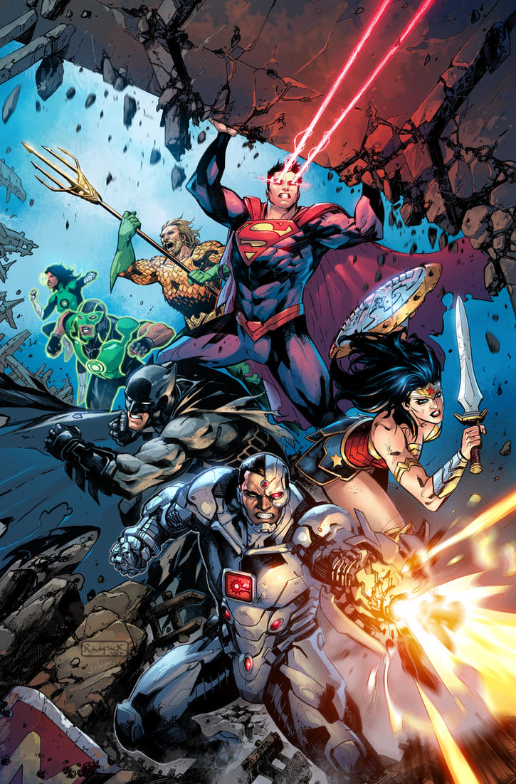 Justice League #25 by Raapack