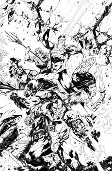 Justice League #25 -Ink