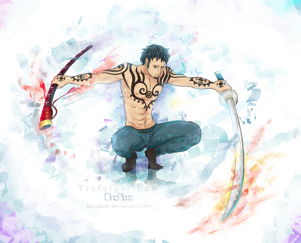 Trafalgar law by s0uljack on deviantart for Trafalgar law tattoos