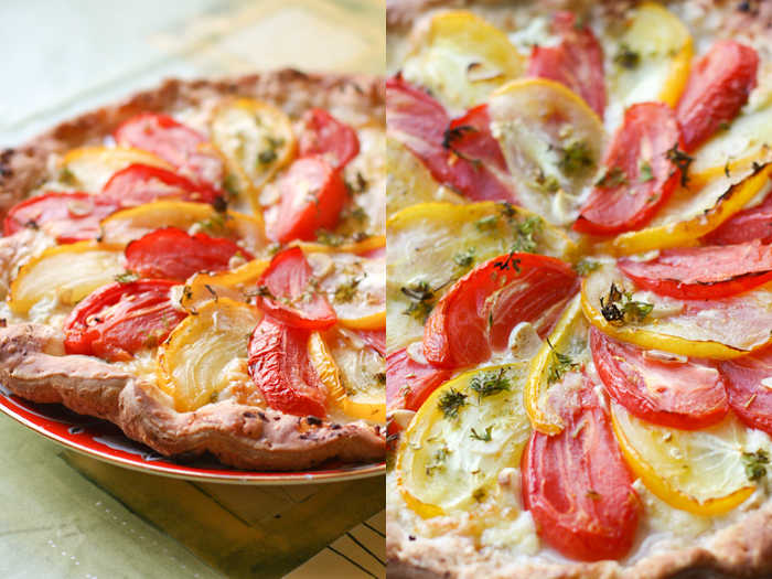 Tomato pie with cottage cheese by brunettitude