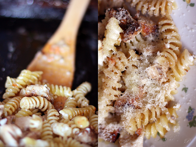 Roasted chicken fillet and pasta by brunettitude
