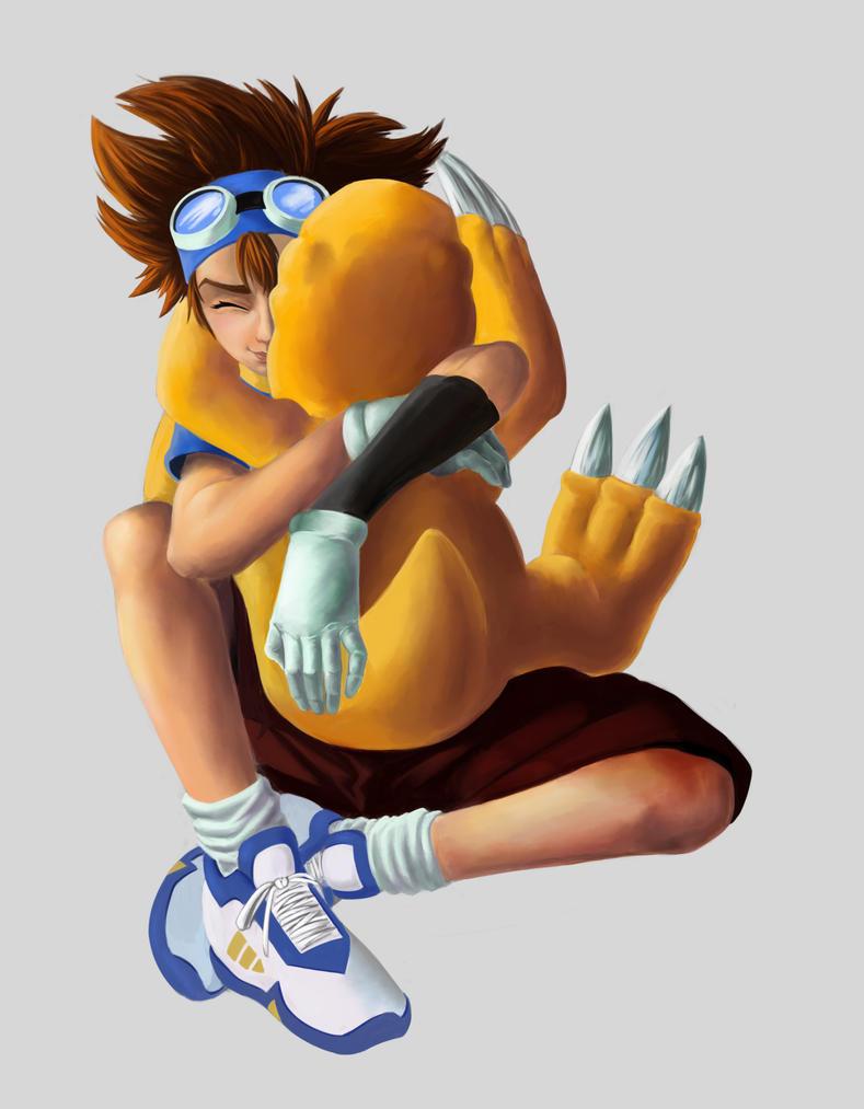 Fanart Digimon - Tai y Agumon by 93Hotaru