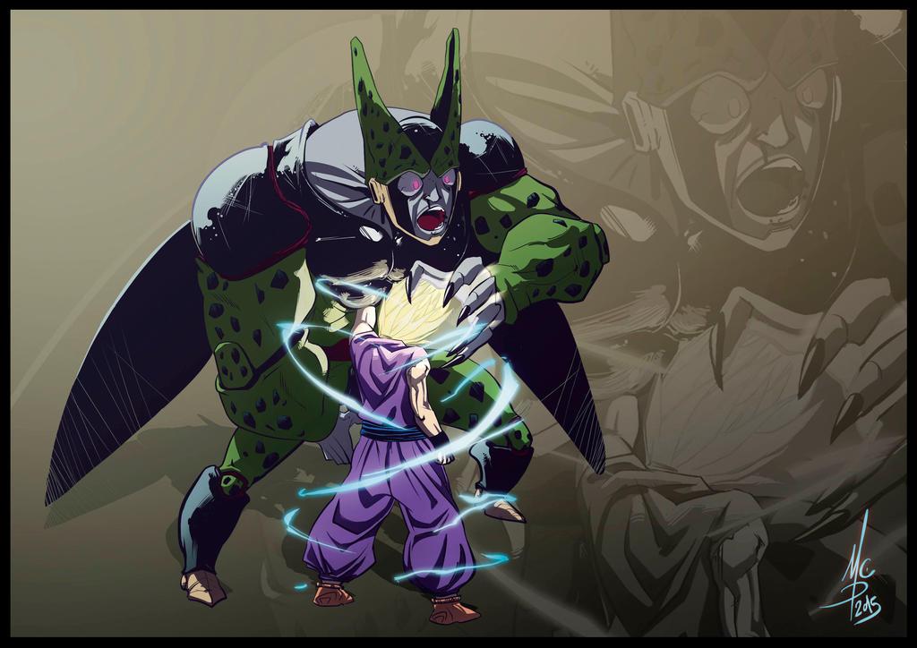 Cell vs Gohan Color by 93Hotaru