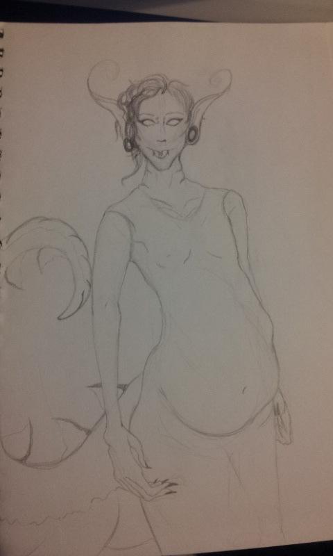 Damien (Wip sketch) by Incursu