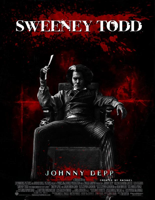 sweeney todd movie poster by forattvinna on deviantart