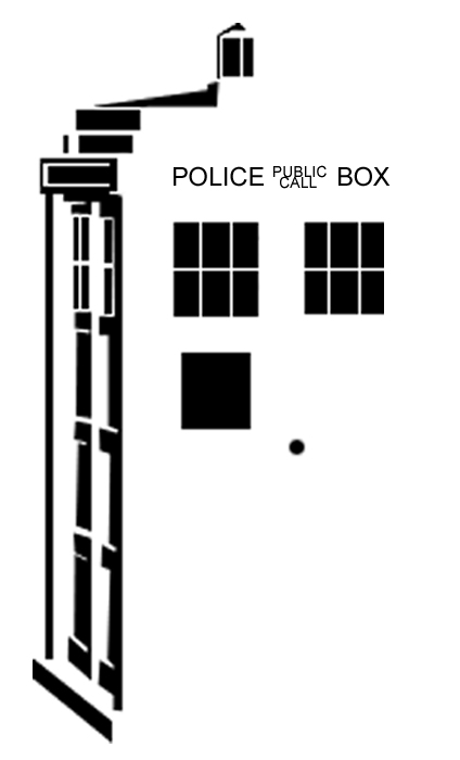 TARDIS stencil by adams-ransom