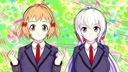 Symphogear - Hibiki and Chris