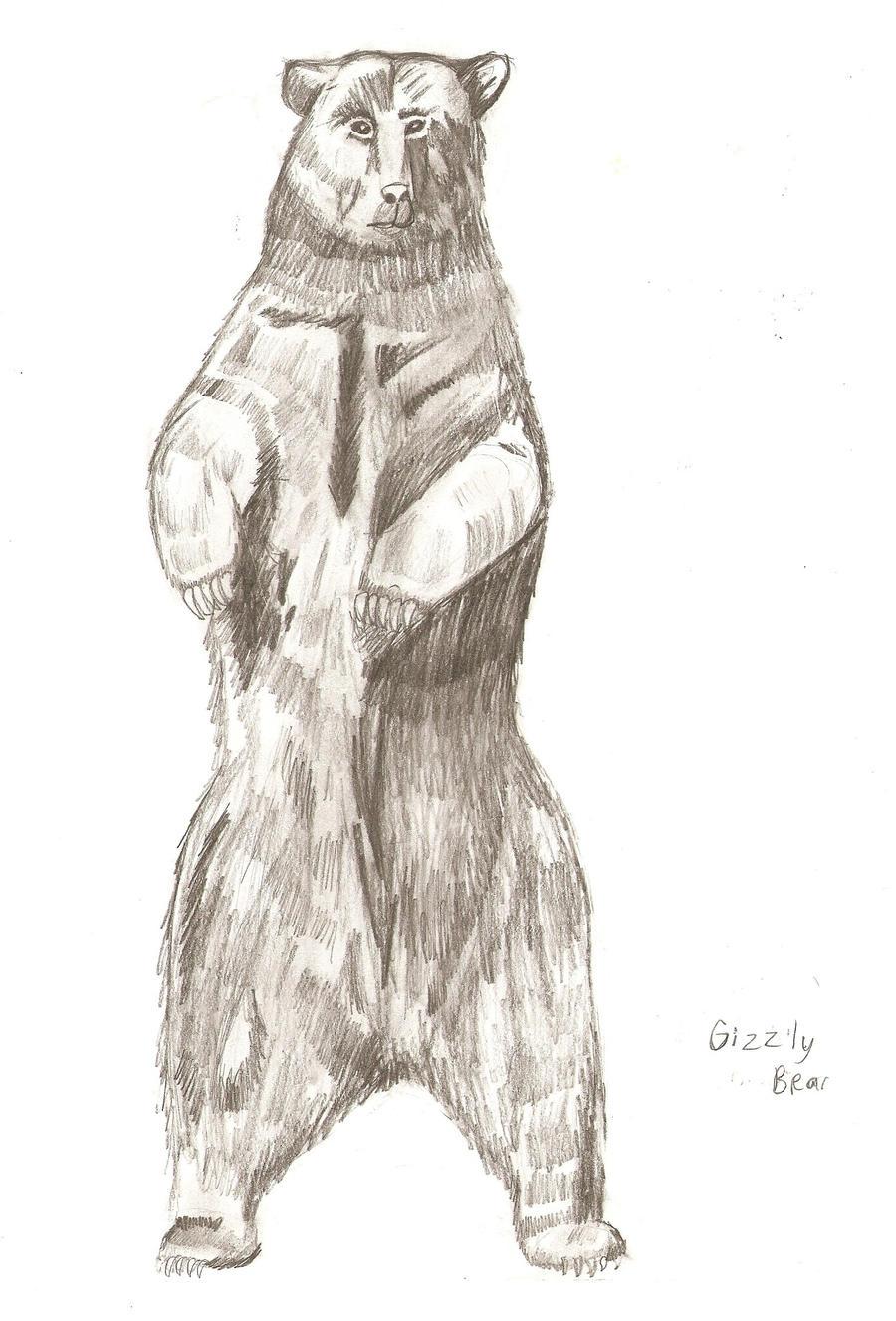 standing bear sketch