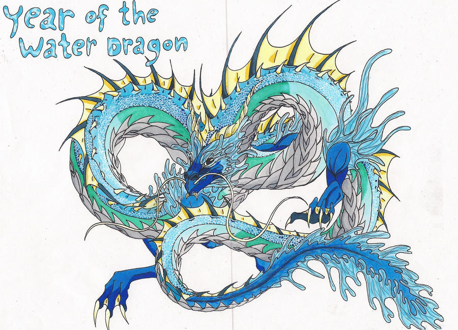 Realistic Water Dragon Coloring Pages pr energy