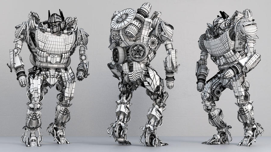 Transformer Model - wire frame by AhmedSaady on DeviantArt