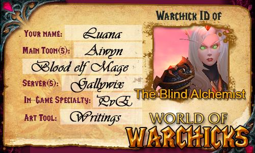 Warchicks ID - The Blind Alchemist by TheBlindAlchemist