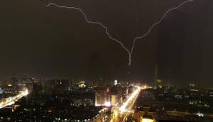 Lightning on Tian Ta