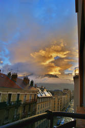Cloudy sky at Grenoble by lex2193