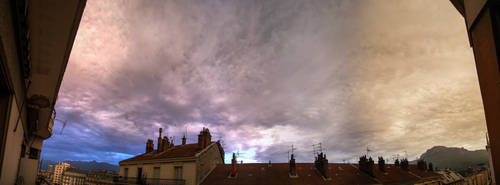 Cloudy sky at Grenoble 2 by lex2193