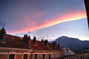 July sky over Grenoble