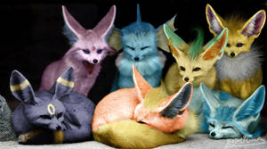 Meet the Eeveelutions by KataliciousDef