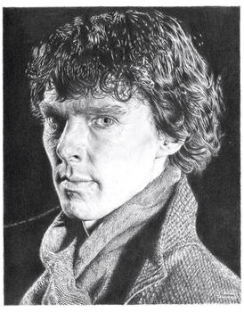 Benedict Cumberbatch Pencil Drawing
