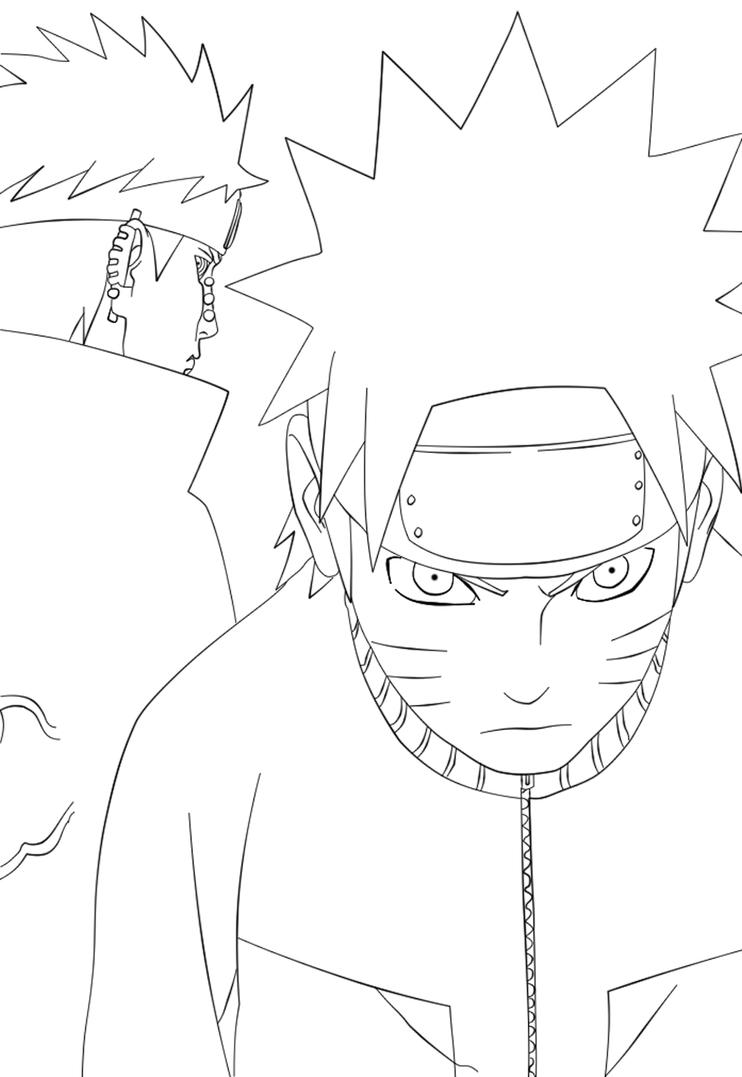 Naruto Lineart : Naruto and pain lineart by stephadri on deviantart