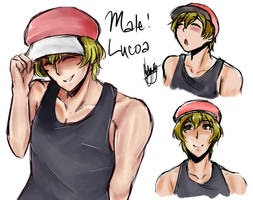 Male! Lucoa {SKETCH 8} by lolilovesdrawing