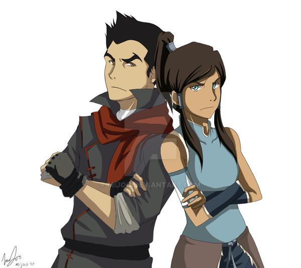 Mako and Korra by MiJoo