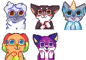 Icon Commissions Batch #1 by doggcity