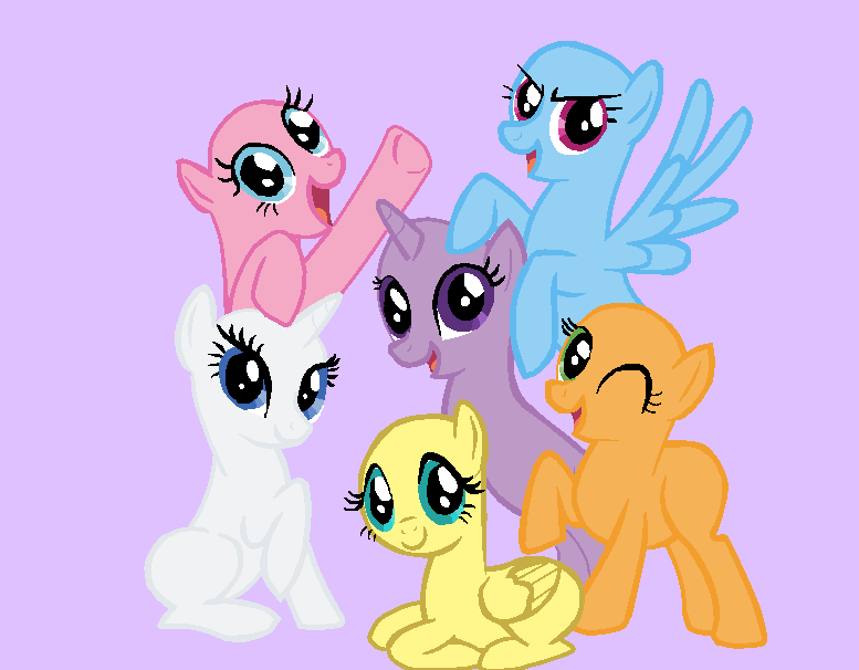 Mes créations My Little Pony _request__base_10__friendship_is_magic_by_mlpfangirl-d59cmyb