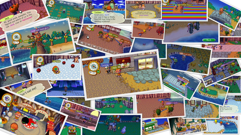 animal crossing city folk collage by digimonroy - Halloween Animal Crossing City Folk