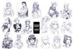 Sketch Commissions batch 1 + 2