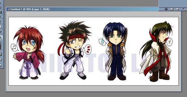Rurouni Kenshin chibis 4 SALE by Zue