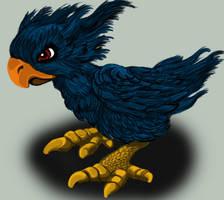 Little black chocobo by Zelwyn