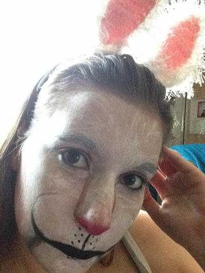 Sad Bunny Makeup - Easter by BreeHalo
