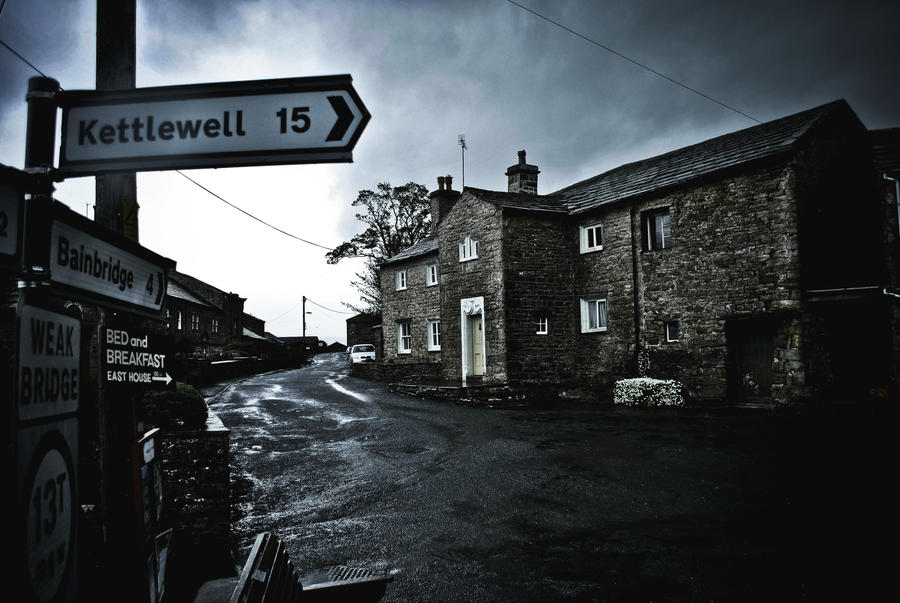 Rainy day in Hawes by M00N-flower