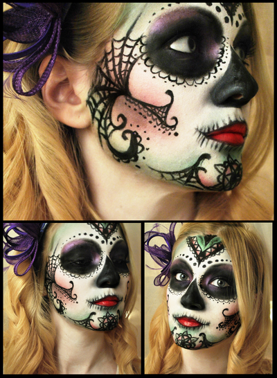Sugar skull by M00N-flower
