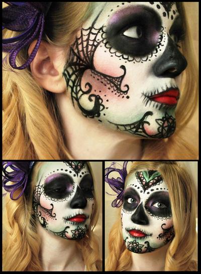 Sugar skull by M00N-flower