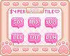 Premade: 20x20 Bubble Text Badges